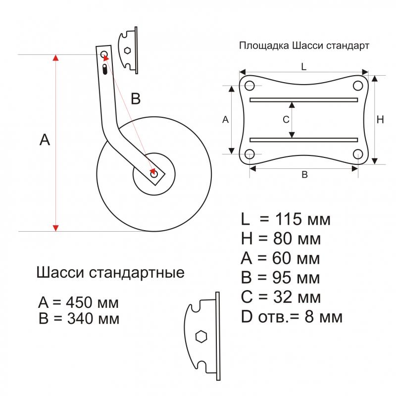 фиксатор транцевых колес