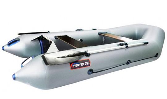Надувная лодка ПВХ Хантер 290 Р (серый)