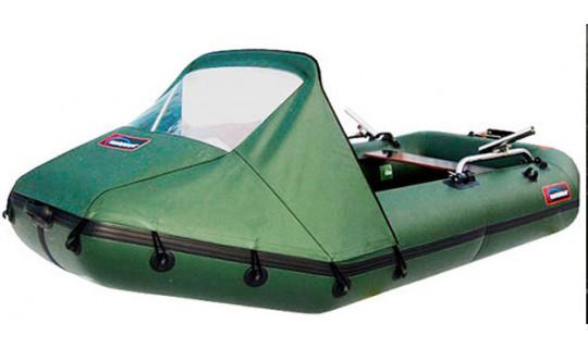 Тент носовой на лодку ПВХ Хантер 320 (зелёный)