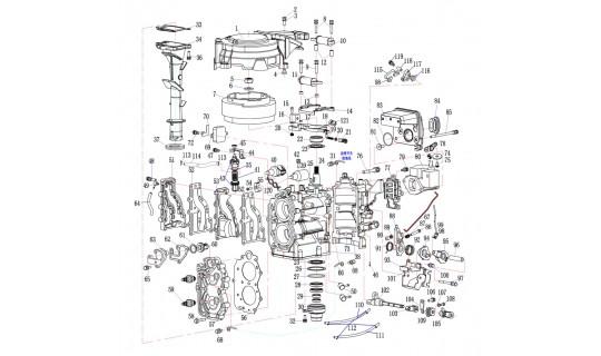 15F-01.06.12 Прокладка цилиндров Yamaha/Hidea 9.9-15 (YMM Тайвань)