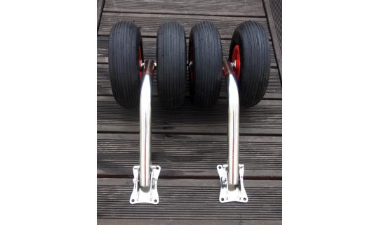 Транцевые колёса усиленные для лодок с НДНД