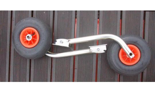 Транцевые колёса для лодок с НДНД