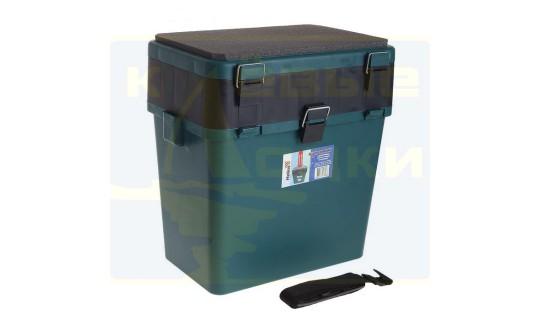 Ящик зимний Helios 19л, цвет зеленый