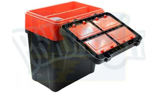 Ящик зимний Takedo 19л, цвет Черно-красный